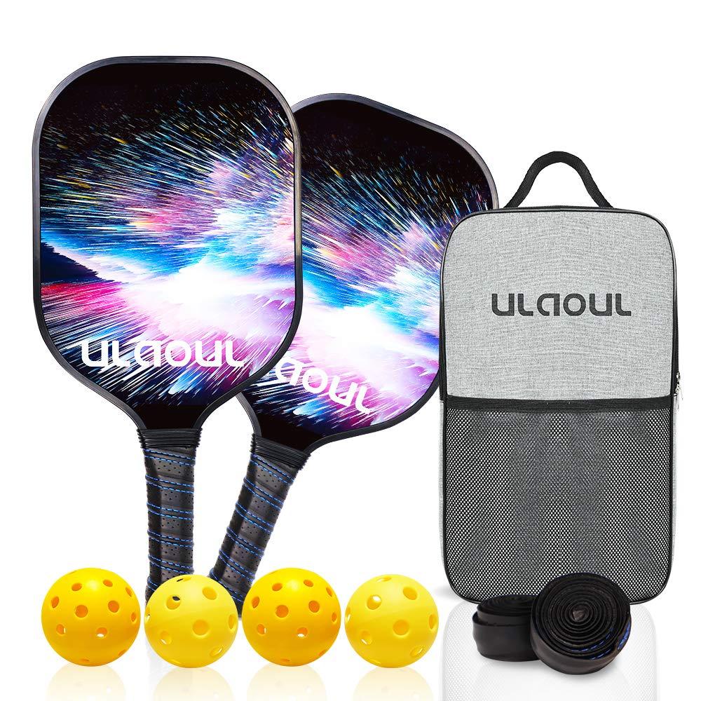 ULAOUL Pickleball Paddles Set of 2 Lightweight Pickleb -TZLC
