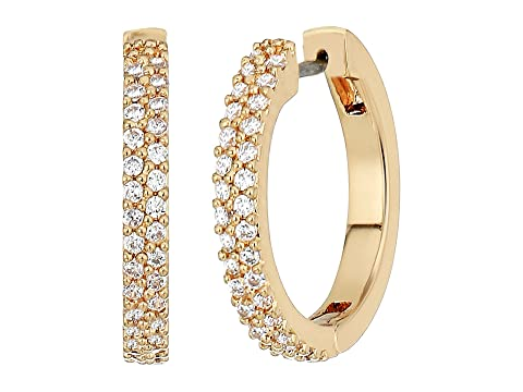 Kate Spade New York Save The Date Pave Huggie Earrings