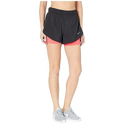 Nike Flex 2-in-1 Woven Shorts (Black/Ember Glow/White) Women