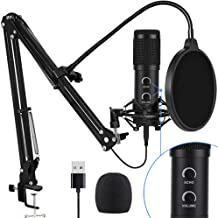 【2020 Upgraded】 USB Condenser Microphone for Computer, Great for Gaming, Podcast, LiveStreaming, YouTube Recording, Karaok...