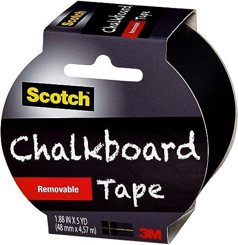 high quality Scotch outlet online sale Chalkboard sale Tape, Black, 1.88-Inch x 5-Yard sale