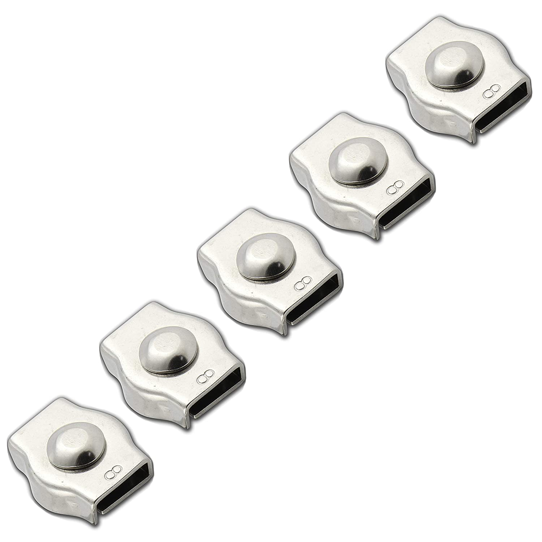 1 unidad de Simplex FASTON/® Abrazadera para cable de alambre de 2 mm de acero inoxidable A4 V4A