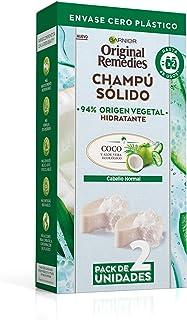 Garnier Original Remedies Champú Sólido Coco para Cabello Normal Y Raíces Grasas Agua de Coco y Aloe Vera Ecológico Hi...