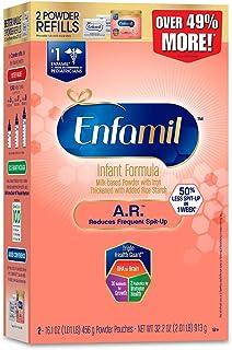 美贊臣Enfamil A.R. 嬰兒配方奶粉 紙盒替換裝32.2盎司(913g)/盒
