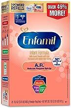 Enfamil A.R. Spit Up Baby formula gentle Milk Powder Refill, 32.2 Oz - Omega 3 Dha, Probiotics, immune & Brain Support