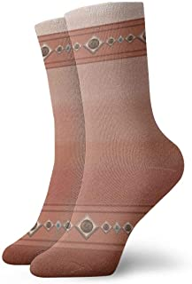 Ombre Southwest Sandstone Canyon Peach Coral Rust Southwestern Novelty Crew Calcetines Calcetines Deportivos Medias 30CM
