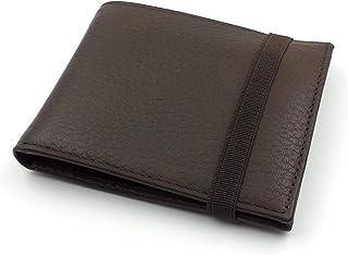 franartPiel - Cartera, billetera, tarjetero, monedero tipo americano Piel Ubrique con cierre de elástico - Alta Calidad (M...