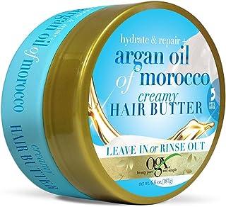 زبدة الشعر الكريمية بزيت الأرغان المغربي من أو جي إكس لترطيب الشعر، 6.6 أونصة