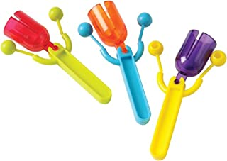 Lot of 12 Assorted Color Bell Theme Clacker Noisemakers