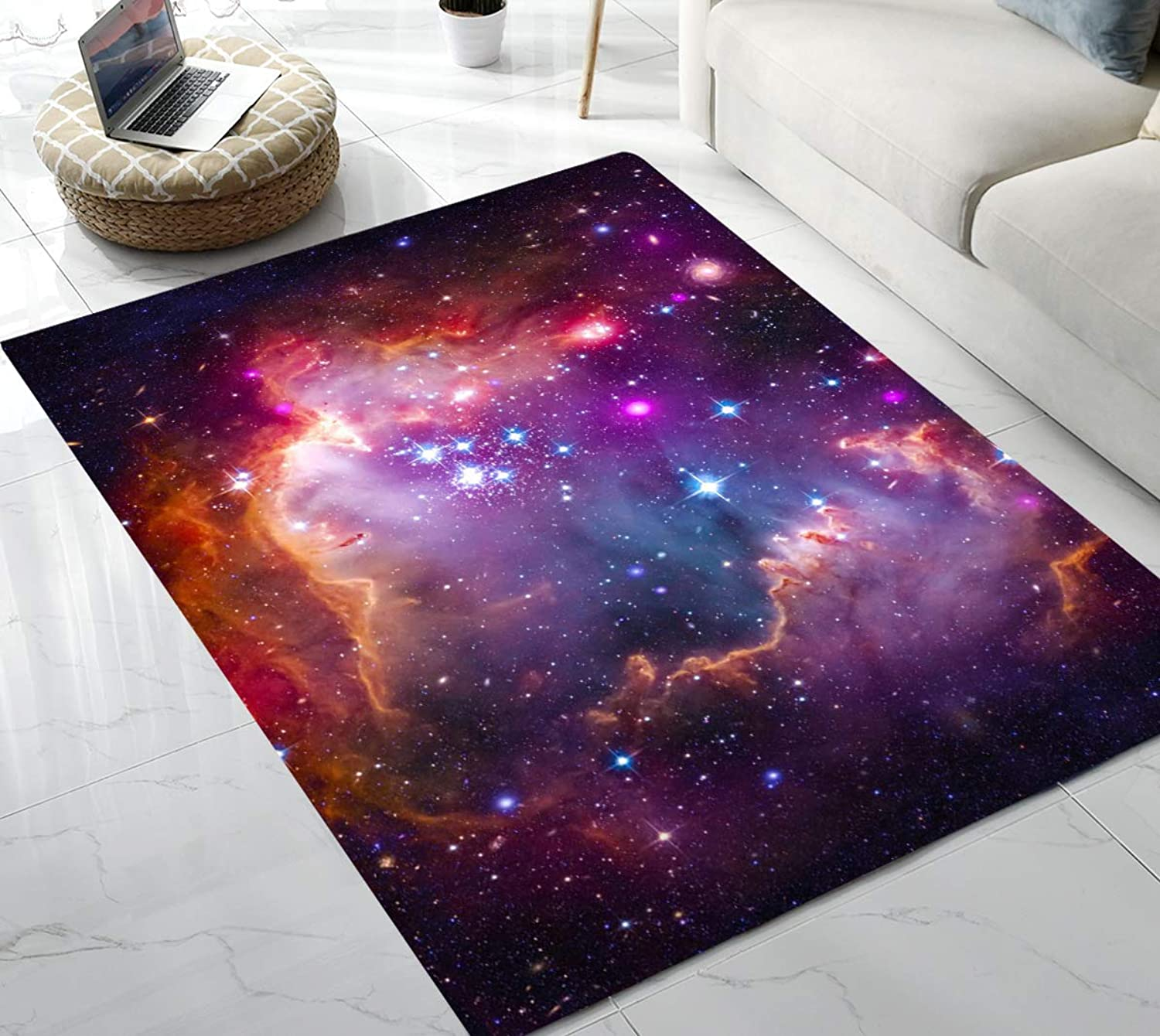Area Rug Beautiful Galaxy Area Rug for Living Room Bedroom Playing Room 5'x7'