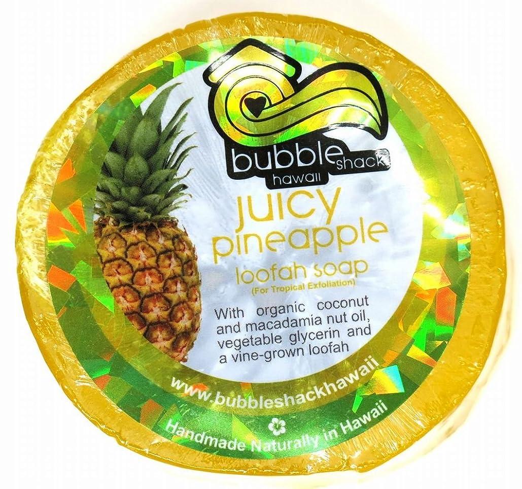 容赦ないアーサーどこにでもハワイアン雑貨/ハワイ 雑貨【バブルシャック】Bubble Shack Hawaii ルーファーソープ(パイナップル) 【お土産】