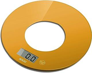 Báscula de–Donut–Cristal–5kg, color naranja