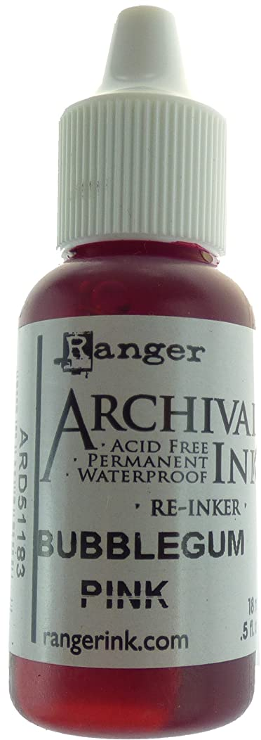 Ranger ARD51183 Designer Series Archival Re-Inkers, 5 oz, Bubblegum Pink