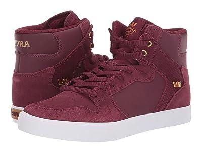 Supra Vaider (Wine/White) Skate Shoes
