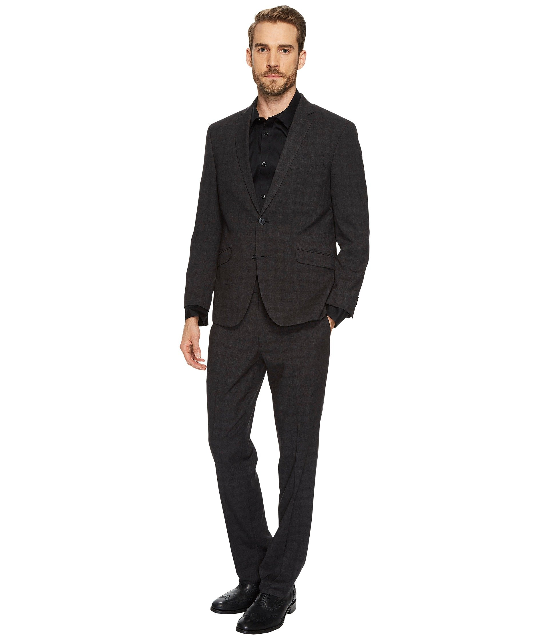 Vestido para Hombre Kenneth Cole Reaction Stretch Slim Fit Tonal Plaid Performance Suit  + Kenneth Cole Reaction en VeoyCompro.net