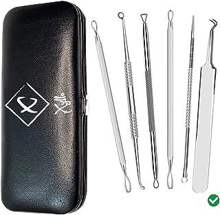 Blackhead Remover, Xyllo 6 Pack Professional Blackhead Extractor Comedone Blackhead Remover Tools, Pimple Popper Kit, Whit...