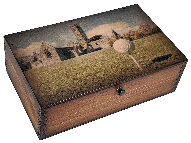 Ireland famous Golf Course Wood Medium security Box