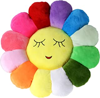 """Poitemsic 18"""" Colorful Girls Sun Flower Floor Pillow Seating Sofa Chairs Cushion Seat Pad Pillow, for a Reading Nook, Bed Room, or Watching TV"""