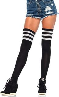 Women's Athletic Three Striped Knee High Socks