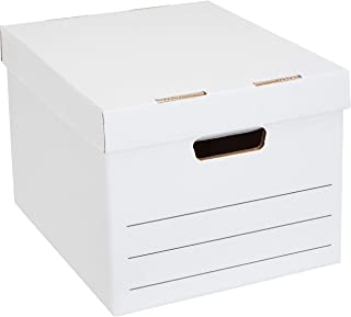 Amazon Basics Medium Duty Storage Filing Box with Lift-Off Lid - Pack of 20, Letter / Legal Size