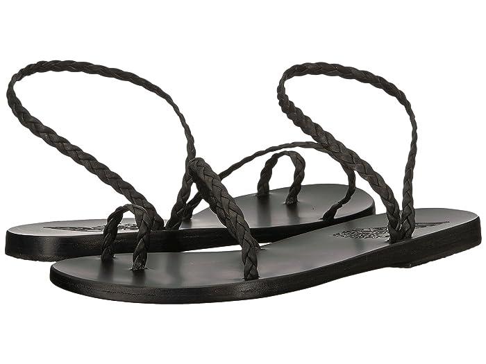 Ancient Greek Sandals  Eleftheria (Black/Black Nappa) Womens Sandals
