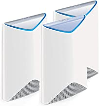 Orbi Pro by NETGEAR – AC3000 Tri-band WiFi System for Business 3-Pack, Covers up to 7,500 sqft, Replaces Access Points, No complicated wiring, Business Traffic & Network Separation (SRK60+SRS60)