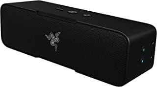Razer Leviathan Mini: 10 Hour Battery Life - Bluetooth Aptx Technology - Microphone With Clear Voice Capture Technology - Combo Play For Wireless Stereo Sound - Bluetooth Portable Speaker