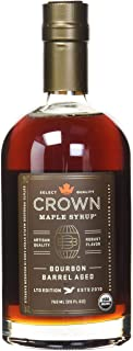 Crown Maple Syrup with Robust Flavor Bourbon Barrel Aged LTD Edition 25 FL OZ