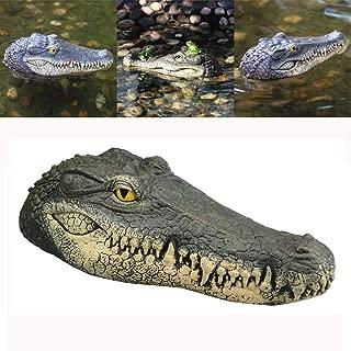 BBTshop Floating Crocodile Head, Fake Alligator Head Water Decoy Pond Float Decor for Pool, Pond, Garden,Patio, Funny Pond Decor 34x15x8.5 cm