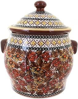 Polish Pottery Autumn Rose Cookie Jar