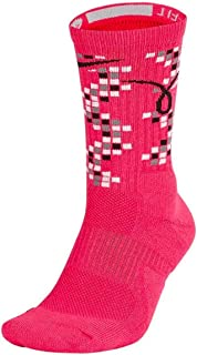 NIKE Unisex Elite Kay Yow Basketball Crew Socks Pink