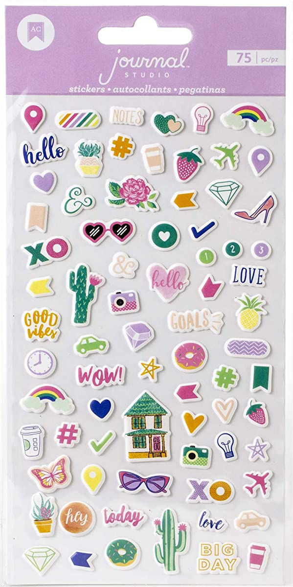 American Crafts 349453 Good Vibes Stickers, Multi