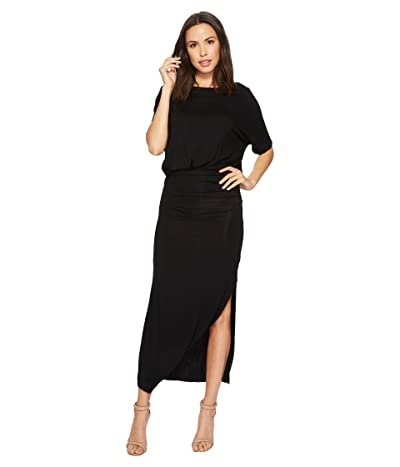 American Rose Daniella Short Sleeve Maxi Dress (Black) Women