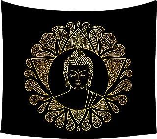 Moylor Zen Meditation Buddha Pattern Tapestry Wall Art Hanging Headboard Bedroom Dorm Living Room Decor