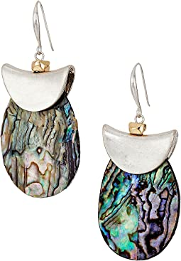 Robert Lee Morris - Silver and Abalone Drop Earrings