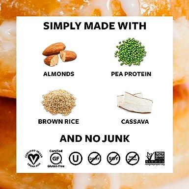 TRUWOMEN Planta alimentada barras de proteínas | no GMO, vegano, libre de gluten, ingredientes naturales | 12g de proteínas (I Scream for Orange ...