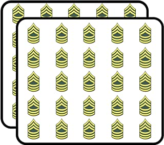 U.S. Army E-8 Master Sergeant Window 50 Pack Sticker for Scrapbooking, Calendars, Arts, Album, Bullet Journals and More 1