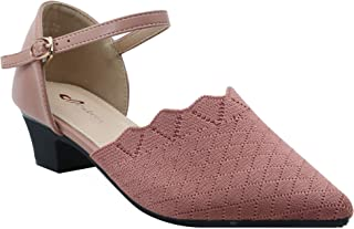 Shuberry SB-19053 Latest Footwear Collection, Comfortable & Fashionable Fabric in Black & Peach Colour Sandal for Women & Girls
