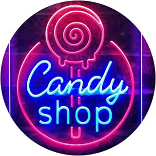Candy Shop Sweet Kid Room Dual Color LED Neon Sign Red & Blue 210 x 300mm st6s23-i3219-rb