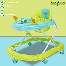 Baybee Winnie Baby Walker Round Kids Walker for Babies Cycle with Adjustable Height and Musical Toy Bar Rattles and Toys Ultra Soft Seat-Activity Walker for Kid and Wheel 6 Months to 2 (Winnie Green)