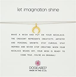Dogeared - Let Imagination Shine, Crescent Charm On Silk Thread, Necklace