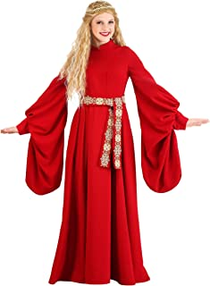 Adult Princess Bride Costume Red Medieval Dress Costume Buttercup Costume for Adult Women