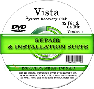 Advanced Repair Systems - Compatible with WIN VISTA SYSTEM REPAIR & RE-INSTALL 32 Bit & 64 Bit BOOT DISK: Repair & Re-install Basic, Home, Premium and Ultimate