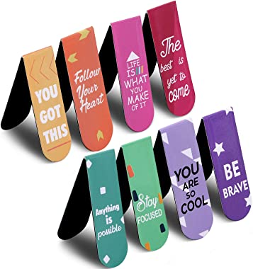 30 Pieces Inspirational Quotes Magnetic Bookmarks Encouraging Bookmarks Positive Magnetic Page Clips Bookmark for Students Te