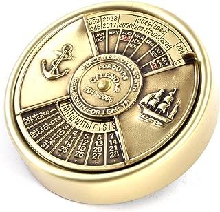 Brass 50 Years Nautical Calendar 2017-2066