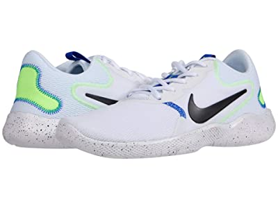 Nike Flex Experience RN 9 (White/Black/Racer Blue/Ghost Green) Men