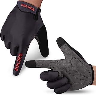 boildeg Cycling Gloves Mountain Bike Gloves MTB Gloves Bicycle Dirt Bike Gloves for Men Women Full Finger Touch Screen Bik...