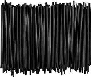 TigerChef 10,000 7.5 Black Disposable Plastic Beverage Coffee Stir Sticks Drink Stirrers Cocktails Straws Bulk Swizzle Sticks For Cappuccino, Frappe, Matcha, Hot Chocolate