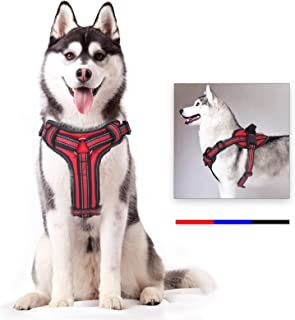 voopet Dog Harness, No Pull Pet Vest Harness with Handle Easy Control on Training, Walking, Hiking - Reflective Adjustable Outdoor Pet Halters for Small Medium Large Dogs All Weather