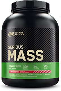 Optimum Nutrition Serious Mass Protein Powder High Calorie Mass Gainer with Vitamins, Creatine and Glutamine, Strawberry, ...